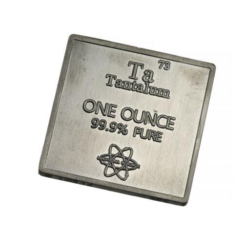 Tantalum Metal .999 1 oz Troy Ounce Bar for Bullion or Element Collection