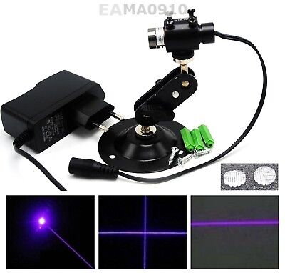 Dot Bluepurple 50mw 405nm Laser Module W Linecross Lens Adapter Holder