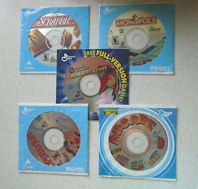 General Mills PC Games MONOPOLY Scrabble OPERATION Arcade CARMEN WORD DETECTIVE