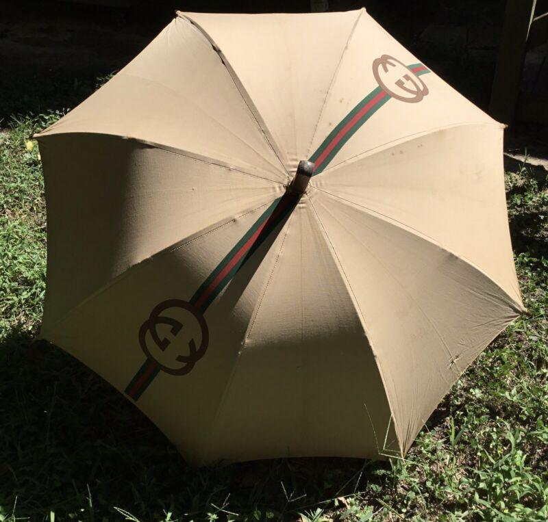 RARE Vintage 1960's Gucci Parasol Umbrella