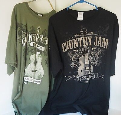 Country Jam Eau Claire WI T-shirts 2010 2011 Short Sleeve Lot of 2