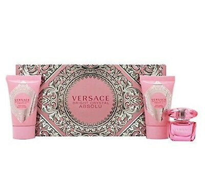 Versace Bright Crystal Absolu Gift Set Parfum 0.17 Oz Lotion0.8 Oz  Shower Gel
