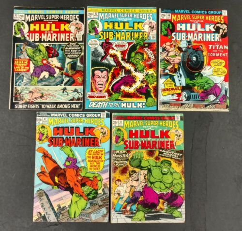 25 MARVEL SUPERHEROES COMICS #32 TO 105 EARLY HULK REPRINTS + TALES TO ASTONISH