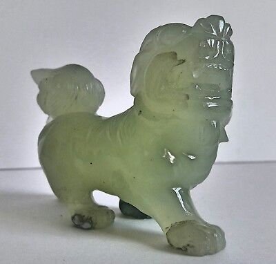 Antique C/1900's Jade Chinese Foo Dog