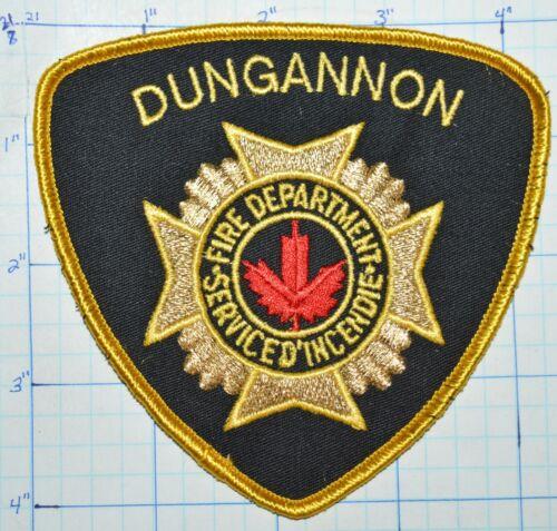 CANADA, DUNGANNON FIRE DEPT SERVICE D