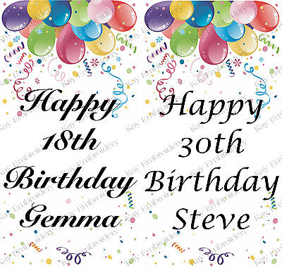 PERSONALISED BIRTHDAY ANY AGE BALLOONS LARGE VERTICAL DOOR PAPER BANNER L@@K (Vertical Birthday Banners)