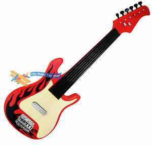 Childrens Kids Childs Rock Star Guitar Musical Toy Instrument 6 Metal Strings