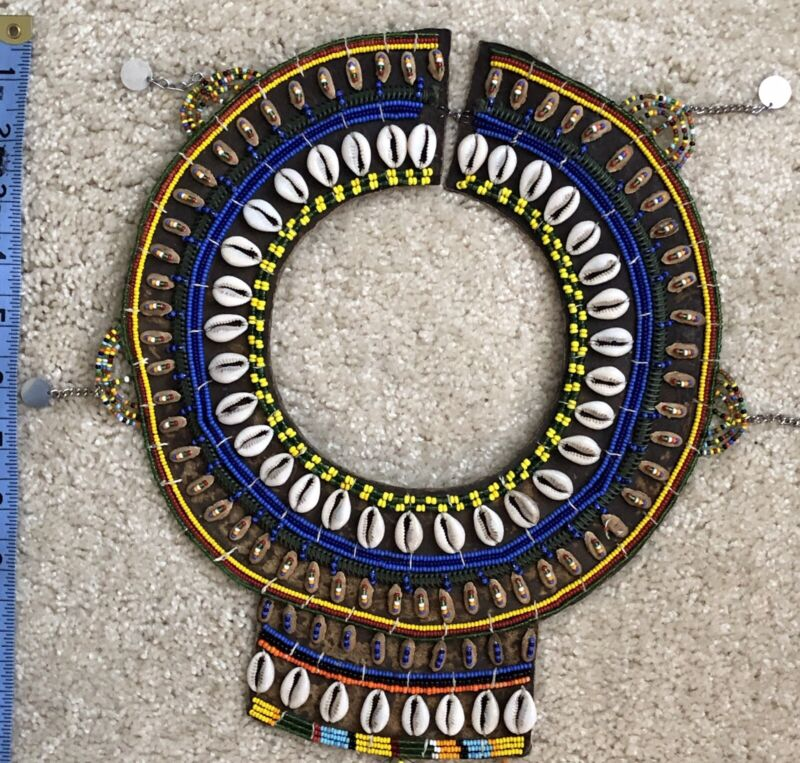 Maasai Vintage Beaded Collar