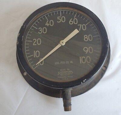 Vintage Foxboro Company Pressure Gauge Steampunk
