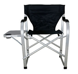 Heavy Duty Camping Outdoor Folding Director Chair BIG BOY W Table SL1214 Black