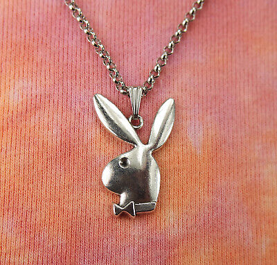 Playboy Bunny Necklace, Play Boy Girl Player Symbol Charm Pendant Jewelry Gift