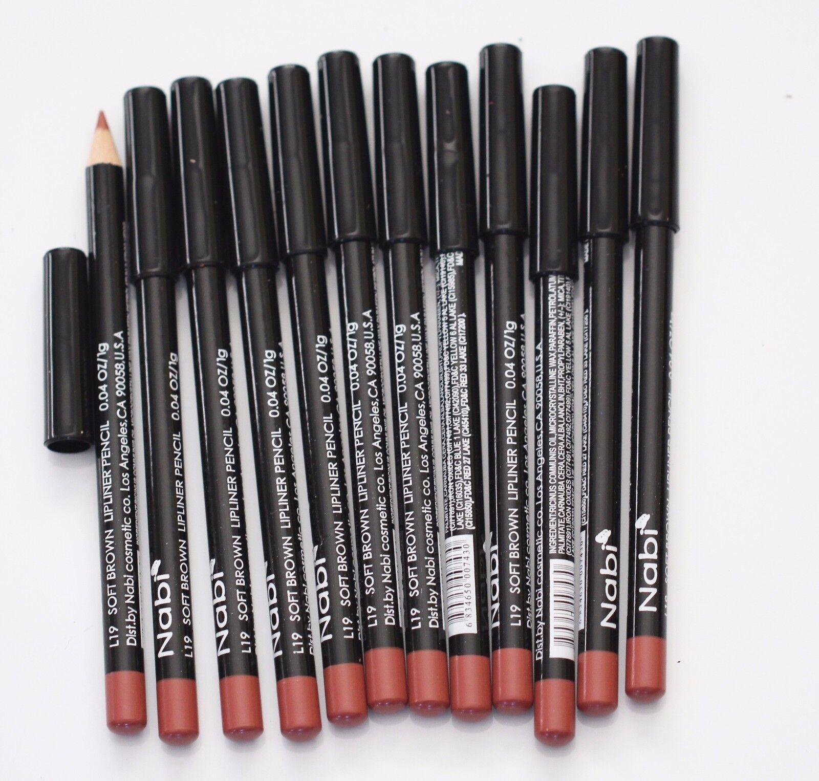 12 pcs NABI L19 SOFT BROWN Lip Liner Lipliner Pencil
