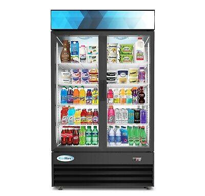 45 Glass 2 Door Commercial Refrigerator Merchandiser Beverage Cooler 29 Cu.ft.