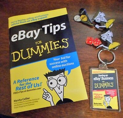 Ebay For Dummies Set of 2 Pins, 1 signed book and 1 keychain  Las Vegas Ebayana