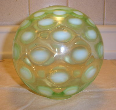 GREEN COIN DOT SPOT WINDOW WITCHES BALL FENTON NORTHWOOD?