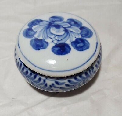 China Blue handpainted Blue porcelain Jewellery box