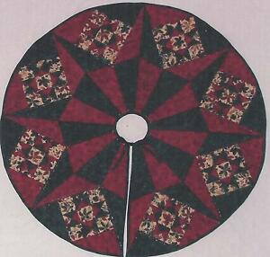 Christmas Star Tree Skirt Quilt Pattern By Karen Comstock