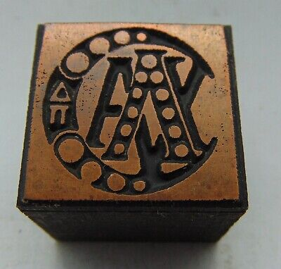 Printing Letterpress Printers Block Moon Logo With Letters