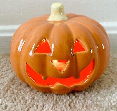 Halloween Mini Ceramic LED Color Changing Light Up Pumpkin Jack-o-lantern