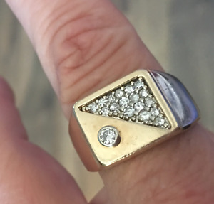 Mens gold and diamond ring size 10