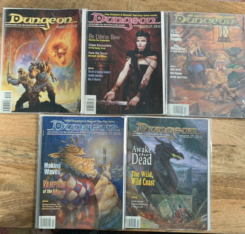 Dungeon Magazine Lot-Complete Mere of Dead Men Path #69-73