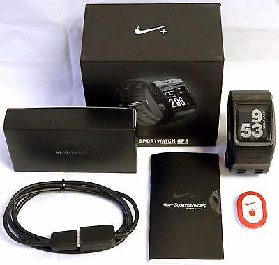 Nike Plus GPS Running Sport Watch BLACK TomTom fitness +Foot Shoe Pod sportwatch