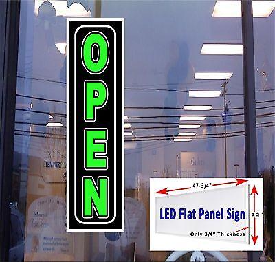 Open Led Illuminated Window Sign 48x12 Flat Panel Led Sign