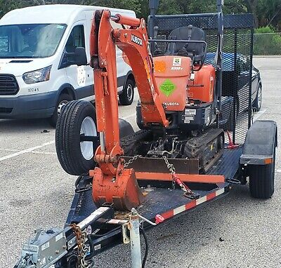 2015 Kubota K008-3 Mini Excavator-scraper With Trailer-digger-tractor-skid Steer