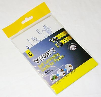 New 5 Self Laminating Cards For 6 X 4 Photos No Machine Required Texet C