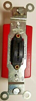 Hubbell 1221-l Lock Type Switch 1 Pole 120277v New Back Or Side Wired