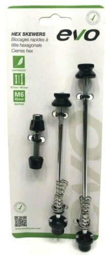 EVO Quick Release Front/Rear Bicycle Wheel & Seatpost Anti Theft Skewer Set