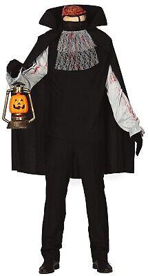 Herren Kopflos Horseman Halloween Lustig Illusion Kostüm Kleid Outfit (Halloween Illusion Kostüm)