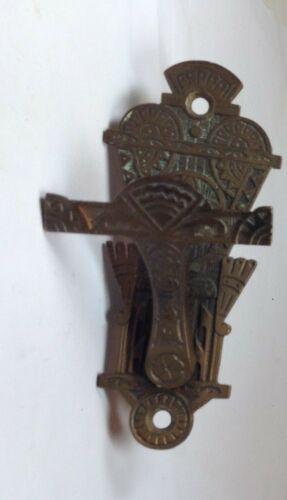 doorbell pull / handle, brass , Victorian Eastlake door bell lever