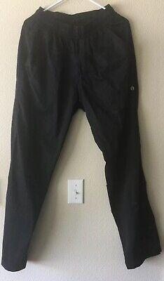 Chef Works Black Uniform Cooks Kitchen Pants Trousers W Zipper Size S