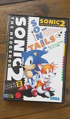 LIKE NEW - Sonic The Hedgehog II 2 - Sega Mega Drive Game - Genesis - Japan