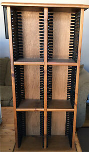 Handmade Wooden DVD Shelf