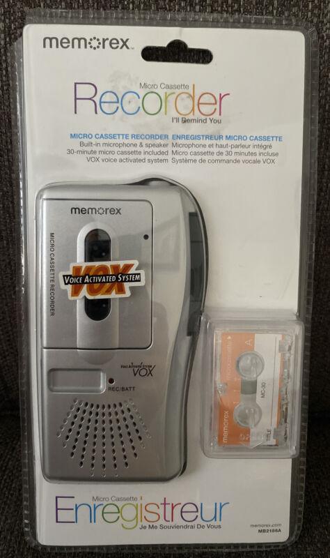 Memorex MB2186A Handheld Micro Cassette Tape Voice Recorder + Cassette NEW