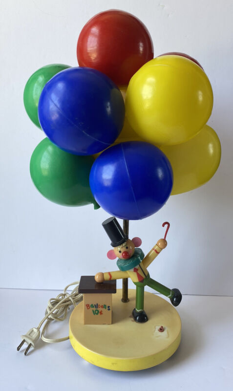 Vintage Circus Clown Balloon Lamp with Night Light by Dolly Toy Co. Modcloth