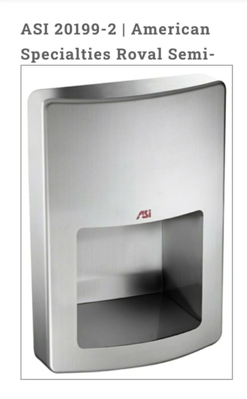 Roval Touchless Hand Dryer -ASI 20199-2 hand Dryer NEW Perfect for bar/Mancave!!