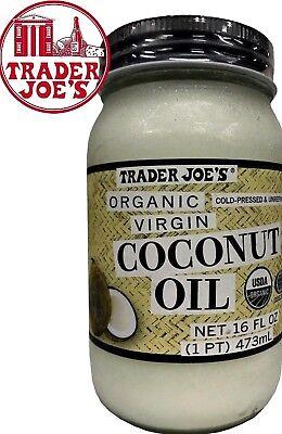 Salesperson Joe's Organic Virgin  Coconut Oil  Cold Pressed Unrefined 16 oz