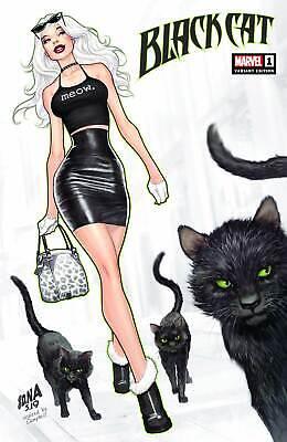 BLACK CAT #1 NAKAYAMA VARIANT MARVEL COMICS FELICIA HARDY SPIDER-MAN W/COA](Black Cat Felicia)