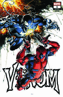 VENOM #1 Clayton Crain Trade Dress Variant LTD to 3000 Marvel Deadpool 2018 NM
