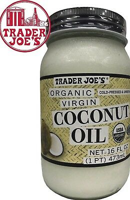 Purchaser Joe's Organic Virgin  Coconut Oil  Cold Pressed Unrefined 16 oz extra