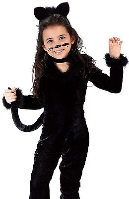 Black Cat Toddler Costume (Black Playful Kitty Cat Costume Toddler Infant Furry Fuzzy Kitten - 24M-2T)