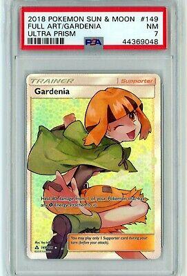 PSA 7 NM Gardenia 149/156 Ultra Prism Full Art Trainer Pokemon Card