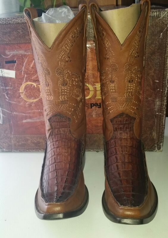 $499Cuadra, Caiman, Tail, Inserts, Cowboy, Boots, French, Toe, San, Crispin, 9D, US, mens, Sz