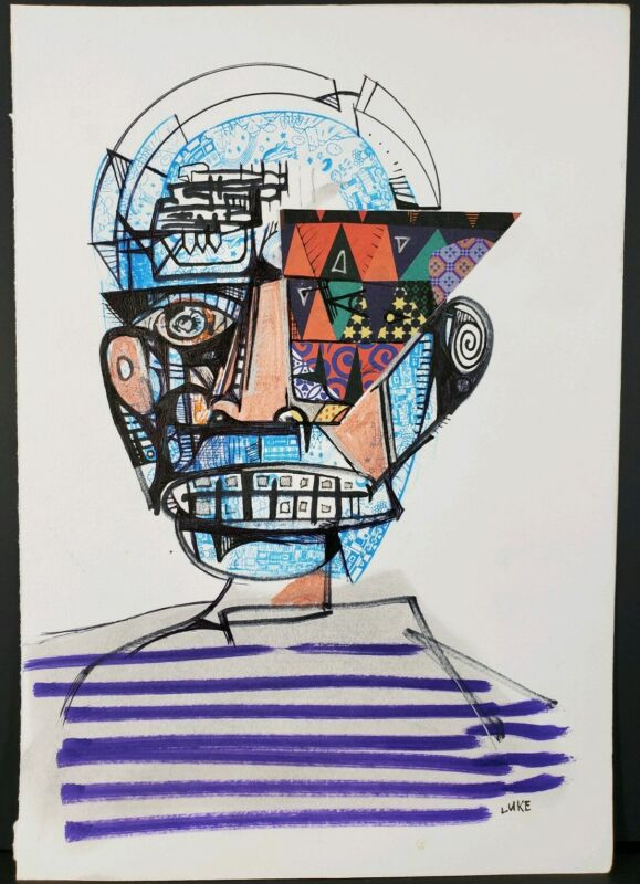 Abstract Art On Paper (Mixed Media) By Artist Luke Berosky