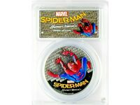 2017 $5 Cook Islands SPIDERMAN Homecoming  PCGS PR70 DCAM 1oz .999 Silver Coin