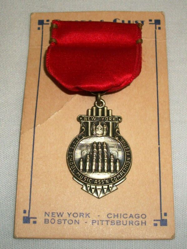 Vintage Dieges & Clust New York State School Music Competition Festival Medal