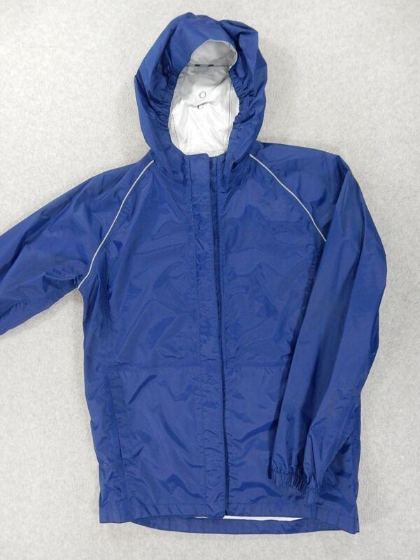REI Elements WaterProof Hooded Rain Jacket (Kids XL 18) Blue